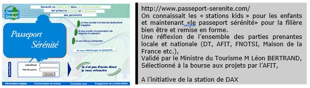 """Exemple du """"Pass sérénité"""""""