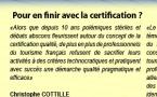 La certification Qualité Destination